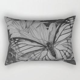 Monarch over Aster Rectangular Pillow