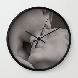 Gentle Kiss Wall Clock