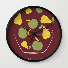 Apples and Peers red Wall Clock