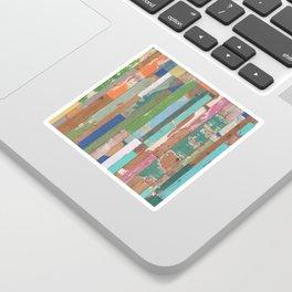 Maui Fence Hawaii Colorful Art Sticker