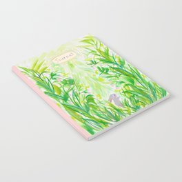 Bunny in strawberry patch Notebook