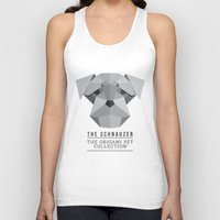 schnauzer Tank Tops featuring The Schnauzer by The Origami Pet Collection