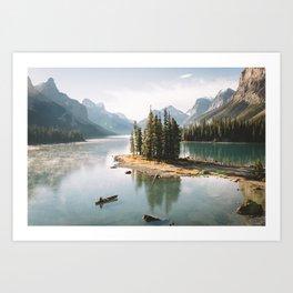 A Canadien Postcard Art Print