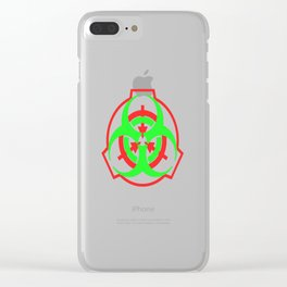 SCP Biohazard symbol Clear iPhone Case