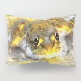 Frog In Deep Water Pillow Sham