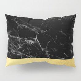 Black Marble & Gold Pillow Sham