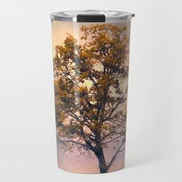 Pastel Skies Cotton Field Tree - Landscape Travel Mug