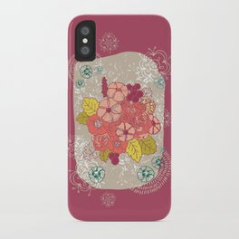 Vintage flowers bunch iPhone Case