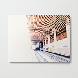 Light At The End of The Metro Tunnel Metal Print