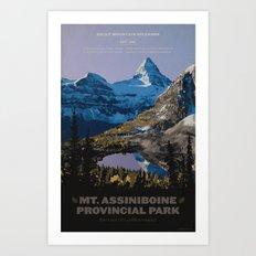 Mt. Assiniboine Provincial Park Art Print
