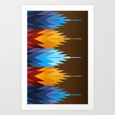 Navajo Fire & Ice Art Print