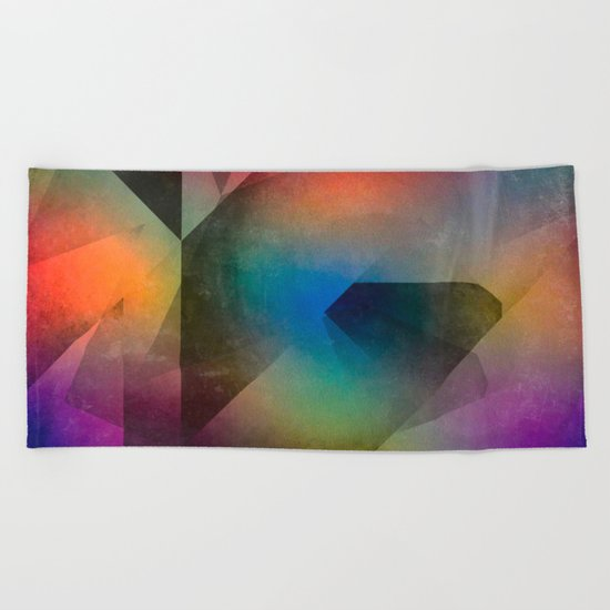 Cuts XX - Colour vs Form Beach Towel