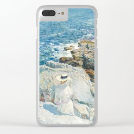 Childe Hassam - The South Ledges, Appledore, 1913 Clear iPhone Case