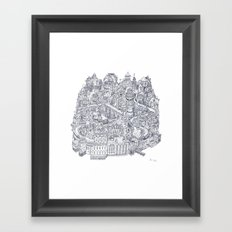 Two Channels b/w Framed Art Print