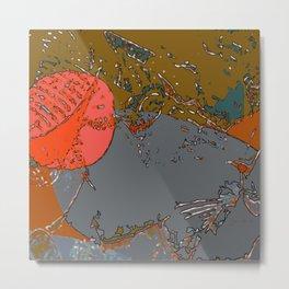 Geography Of My Mind - Digital Artwork Metal Print