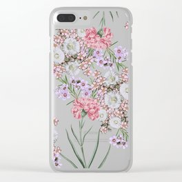 Natural Beauty Botanic Floral Print #society6 #floral #homedecor Clear iPhone Case
