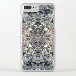 Clematis Flower Photo Fractal 714 Clear iPhone Case