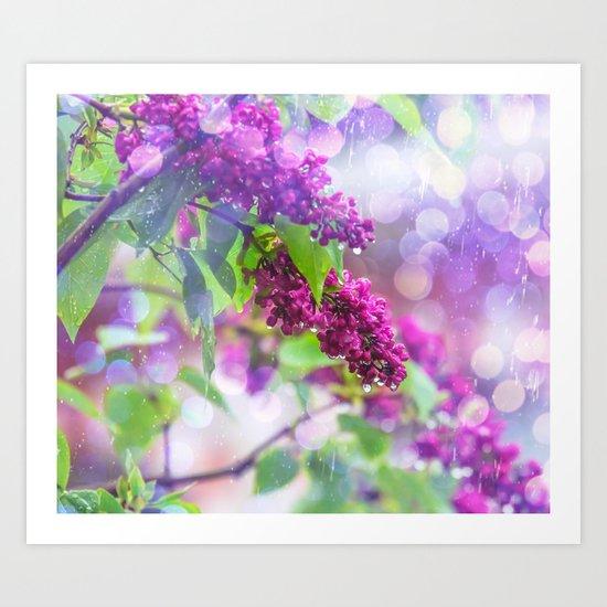 Spring rain Art Print