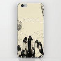 crystals iPhone & iPod Skins featuring Crystals by Kazuma Shimizu