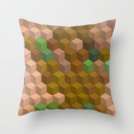 Multicolor blocks Throw Pillow