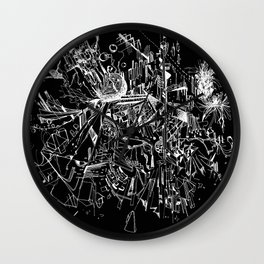 Geometry in Space (Black) Wall Clock