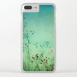 Between Autumn and Winter Clear iPhone Case