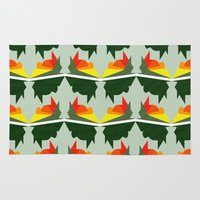ships Area & Throw Rugs featuring Burning Ships by Mimi