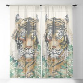 Tiger Sheer Curtain