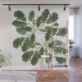 Oak leaf ensemble Wall Mural