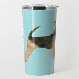 Airedale Terrier funny fart dog breed gifts Travel Mug