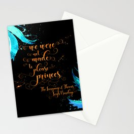 We were not made to please princes. The Language of Thorns Stationery Cards