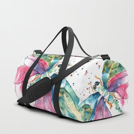 Vibrant Dragonfly Duffle Bag
