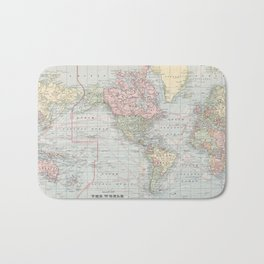 Vintage World Map (1901) Bath Mat