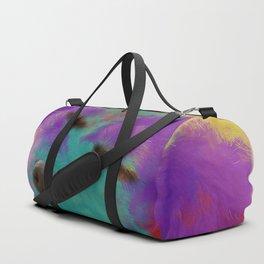 Colorful Retriever Puppy Duffle Bag