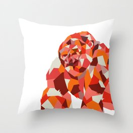 Shape Ape - Low Poly Gorilla Throw Pillow