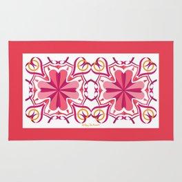 Lyrical Love Mandala x 2 - Pink Gold Rug
