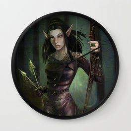 Fay in the forest Wall Clock
