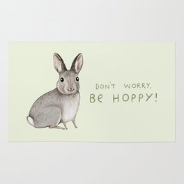Don't Worry Be Hoppy Rug