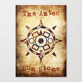 The Aztec sun Stone Canvas Print