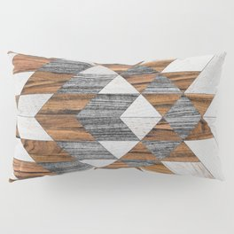 Urban Tribal Pattern 12 - Aztec - Wood Pillow Sham