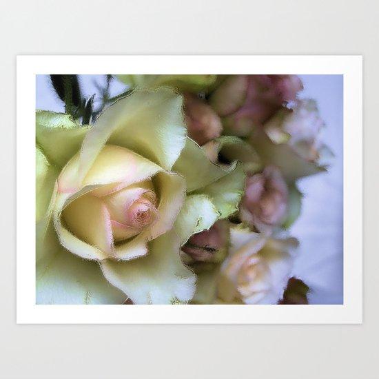 DREAMER (champagne rose) Art Print