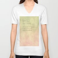 serenity V-neck T-shirts featuring Serenity by Cullen Rawlins