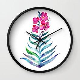 Blooming Orchid – Fuchsia & Indigo Palette Wall Clock