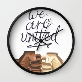 We Are United Wall Clock