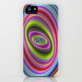 Colorful hypnosis iPhone Case