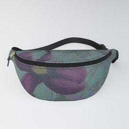 Dogwood Purple on Blue Green Fanny Pack