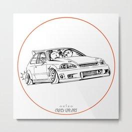 Crazy Car Art 0217 Metal Print