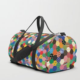Hexagonal Patchwork Duffle Bag