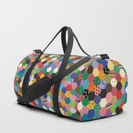 Hexagonal Patchwork Duffle Bag