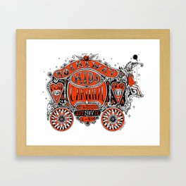 Rockaway Kids Carnival (post hurricane Sandy)Poster Framed Art Print